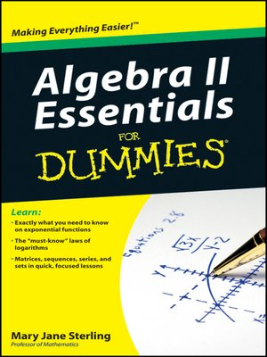 cover image of Algebra II Essentials For Dummies
