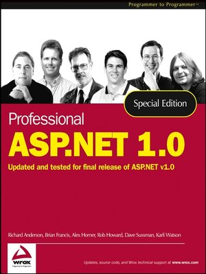 cover image of Professional ASP.NET 1.0