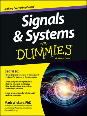 cover image of Signals and Systems For Dummies
