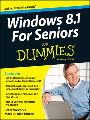 cover image of Windows 8.1 For Seniors For Dummies