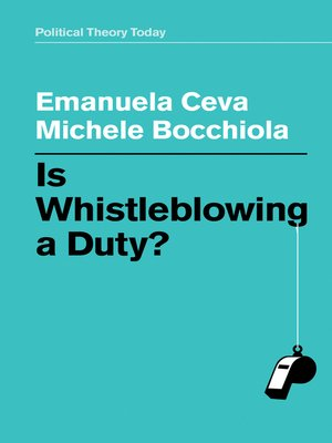 cover image of Is Whistleblowing a Duty?