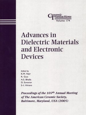 cover image of Advances in Dielectric Materials and Electronic Devices
