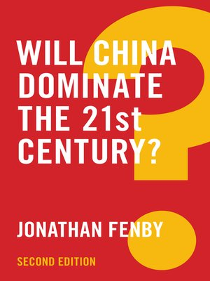cover image of Will China Dominate the 21st Century?