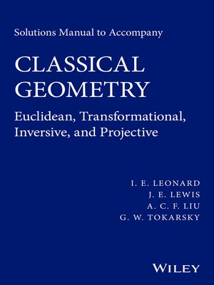 cover image of Solutions Manual to Accompany Classical Geometry