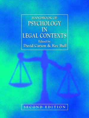 cover image of Handbook of Psychology in Legal Contexts