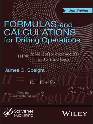 cover image of Formulas and Calculations for Drilling Operations
