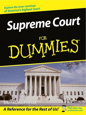 cover image of Supreme Court For Dummies