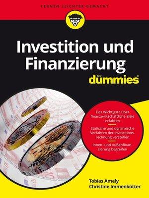 cover image of Investition und Finanzierung für Dummies