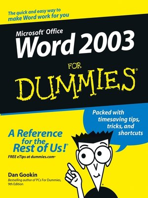 cover image of Word 2003 For Dummies