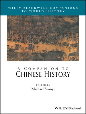 cover image of A Companion to Chinese History