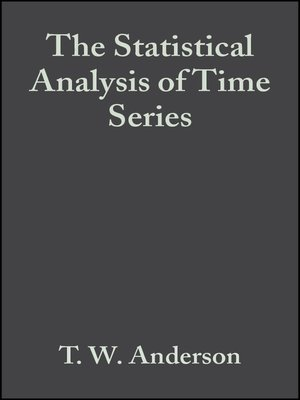 cover image of The Statistical Analysis of Time Series