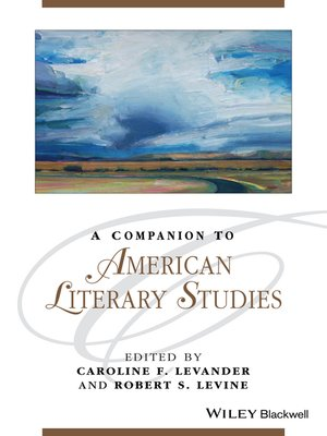 cover image of A Companion to American Literary Studies