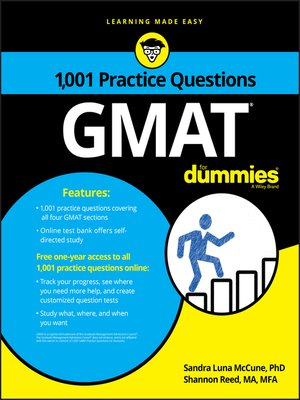 cover image of 1,001 GMAT Practice Questions For Dummies