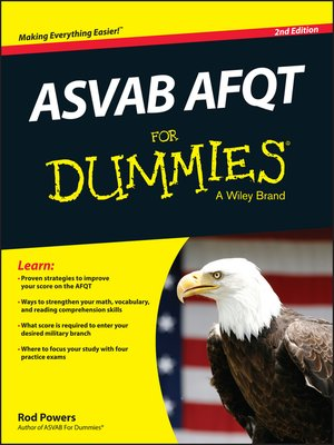 cover image of ASVAB AFQT For Dummies