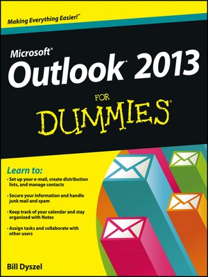 cover image of Outlook 2013 For Dummies