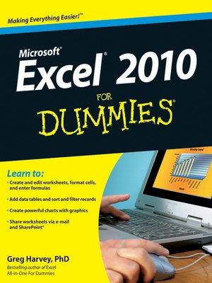cover image of Excel 2010 For Dummies