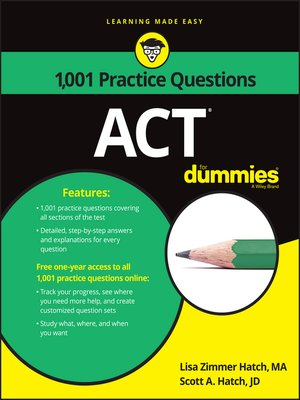 cover image of 1,001 ACT Practice Problems for Dummies