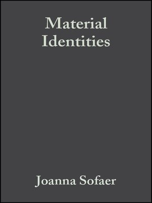 cover image of Material Identities