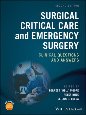 cover image of Surgical Critical Care and Emergency Surgery