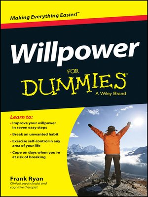 cover image of Willpower For Dummies
