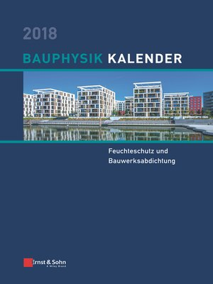 cover image of Bauphysik Kalender 2018