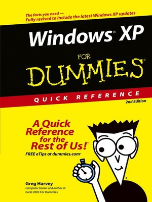 cover image of Windows XP For Dummies Quick Reference