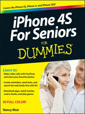 cover image of iPhone 4S For Seniors For Dummies