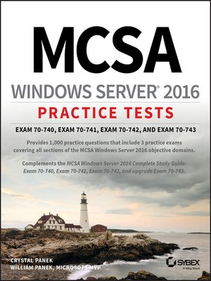 cover image of MCSA Windows Server 2016 Practice Tests