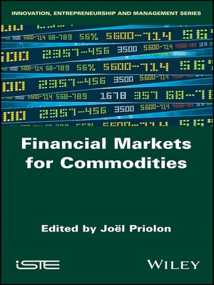 cover image of Financial Markets for Commodities