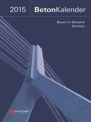 cover image of Beton-Kalender 2015 Schwerpunkte