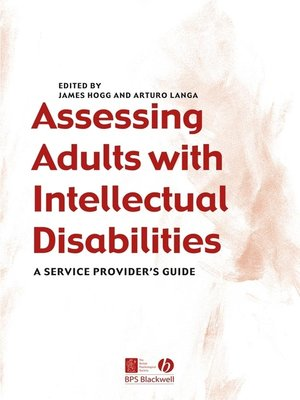 cover image of Assessing Adults with Intellectual Disabilities
