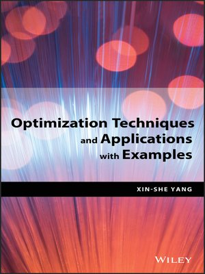 cover image of Optimization Techniques and Applications with Examples
