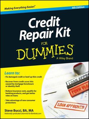 cover image of Credit Repair Kit For Dummies