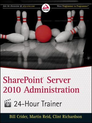 cover image of SharePoint Server 2010 Administration 24 Hour Trainer
