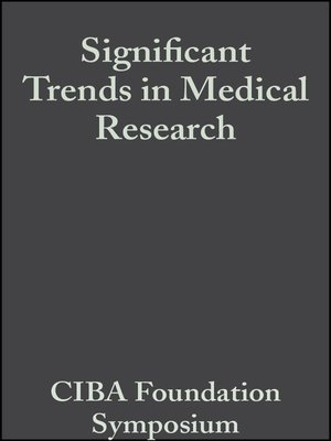 cover image of Significant Trends in Medical Research