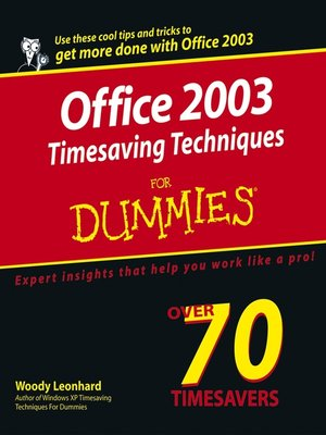 cover image of Office 2003 Timesaving Techniques For Dummies