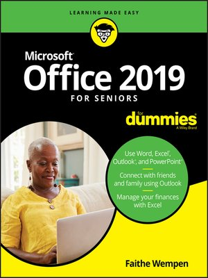 cover image of Office 2019 For Seniors For Dummies