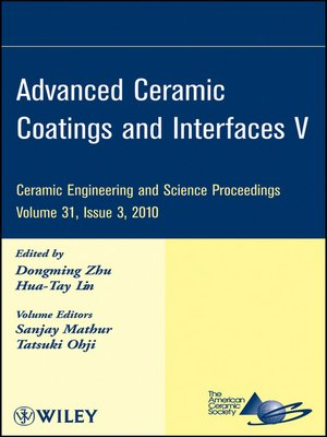 cover image of Advanced Ceramic Coatings and Interfaces V