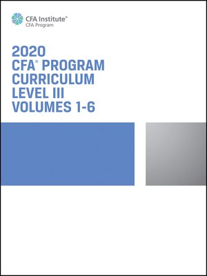 cover image of CFA Program Curriculum 2020 Level III, Volumes 1--6