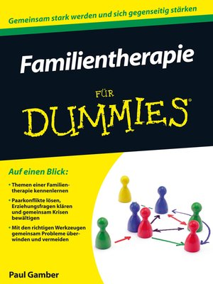 cover image of Familientherapie für Dummies