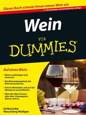 cover image of Wein für Dummies