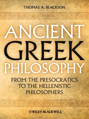 cover image of Ancient Greek Philosophy