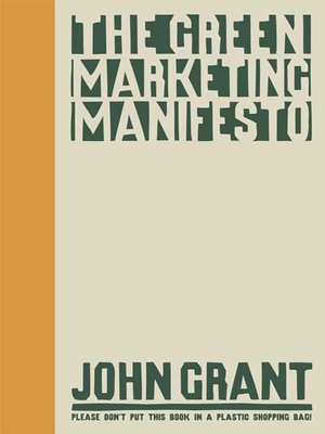cover image of The Green Marketing Manifesto