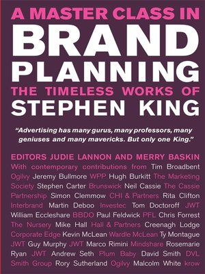 cover image of A Master Class in Brand Planning