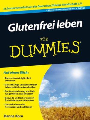 cover image of Glutenfrei leben für Dummies