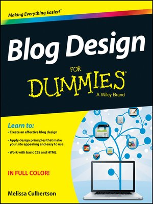 cover image of Blog Design For Dummies