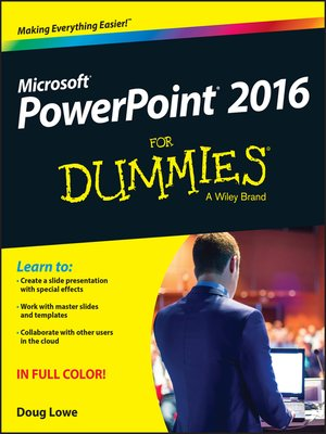 cover image of PowerPoint 2016 For Dummies