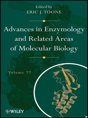 cover image of Advances in Enzymology and Related Areas of Molecular Biology
