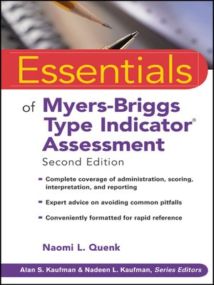 cover image of Essentials of Myers-Briggs Type Indicator Assessment