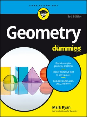 cover image of Geometry for Dummies